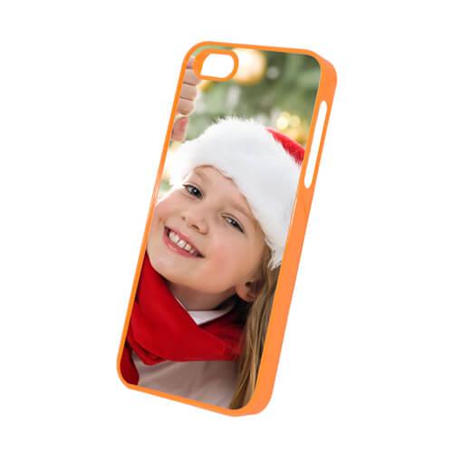 iPhone 5/5S narancssárga műanyag tok szublimáláshoz, préseléshez