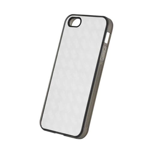 iPhone 5/5S szürke gumi tok szublimáláshoz, préseléshez