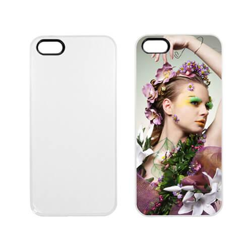 iPhone 5/5S matt fehér műanyag tok szublimáláshoz, préseléshez
