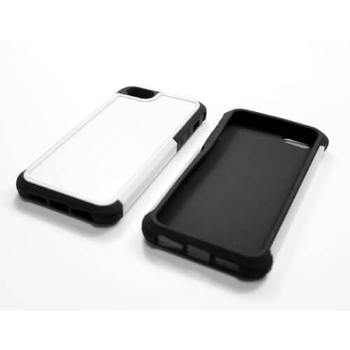 iPhone 5/5S fehér műanyag-gumi tok szublimáláshoz, préseléshez