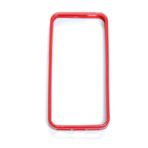 iPhone 5/5S piros gumi keret szublimáláshoz, préseléshez