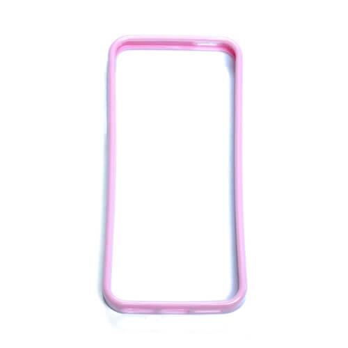 iPhone 5/5S világos rózsaszín gumi keret szublimáláshoz, préseléshez