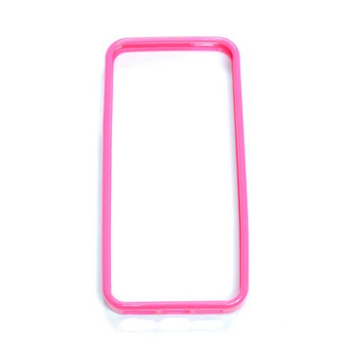 iPhone 5/5S sötét rózsaszín gumi keret szublimáláshoz, préseléshez
