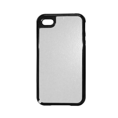 iPhone 5/5S fekete műanyag-gumi tok szublimáláshoz, préseléshez