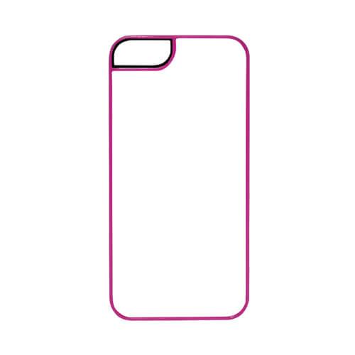 iPhone 5/5S sötét rózsaszín műanyag tok, szublimáláshoz, préseléshez