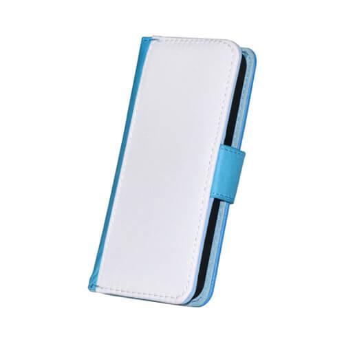 iPhone 5/5S kék eco bőr tok szublimáláshoz, préseléshez