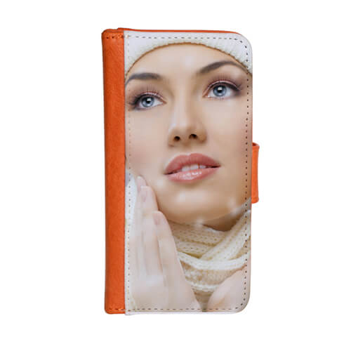 iPhone 5/5S narancssárga eco bőr tok szublimáláshoz, préseléshez