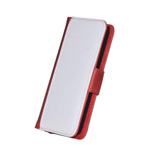 iPhone 5/5S piros eco bőr tok szublimáláshoz, préseléshez