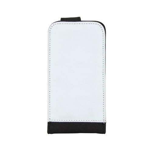 iPhone 5/5S fekete eco bőr tok szublimáláshoz, préseléshez