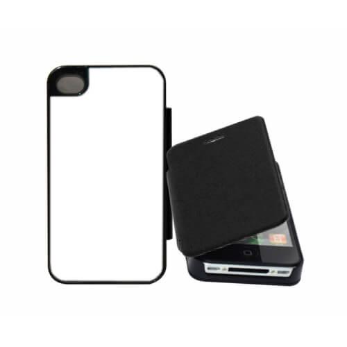 iPhone 5/5S fekete felnyitható tok szublimáláshoz, préseléshez
