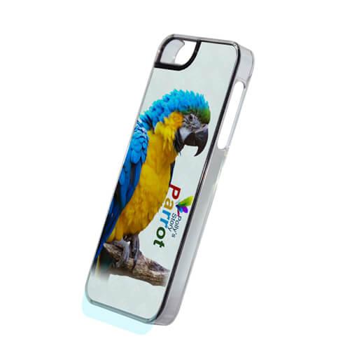 iPhone 5/5S áttetsző műanyag tok, szublimáláshoz, préseléshez