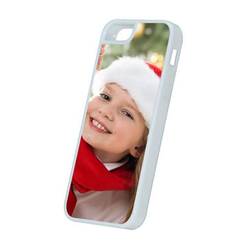iPhone 5/5S fehér műanyag tok szublimáláshoz, préseléshez