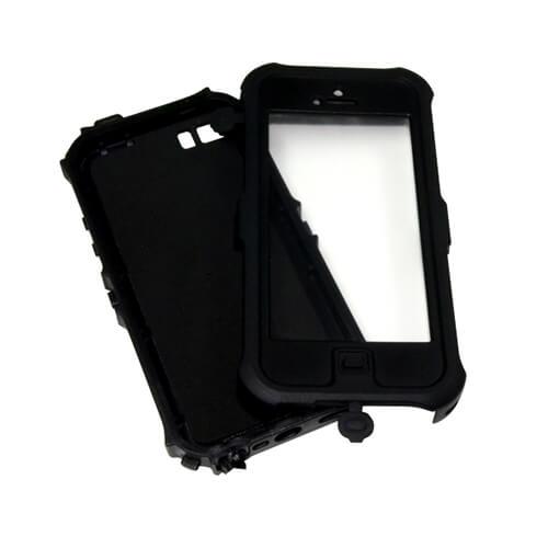 iPhone 5/5S fekete vízálló műanyag tok szublimáláshoz, préseléshez