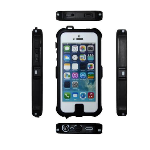 iPhone 5/5S fehér vízálló műanyag tok szublimáláshoz, préseléshez