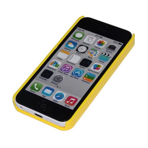 iPhone 5C sárga műanyag tok szublimáláshoz, préseléshez