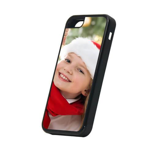 iPhone 5C fekete gumi tok szublimáláshoz, préseléshez