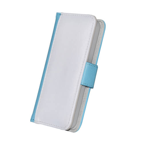 iPhone 5C kék eco bőr tok szublimáláshoz, préseléshez