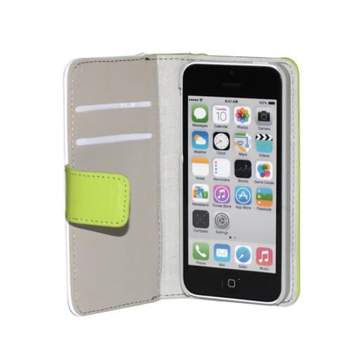 iPhone 5C zöld eco bőr tok szublimáláshoz, préseléshez