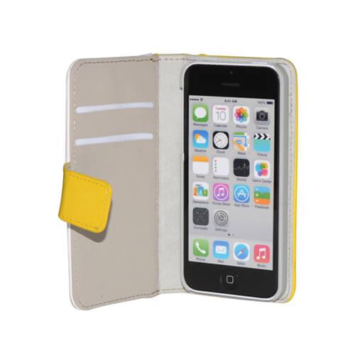 iPhone 5C sárga eco bőr tok szublimáláshoz, préseléshez