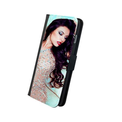 iPhone 6/6S Plus fekete eco bőr tok szublimáláshoz, hőpréseléshez