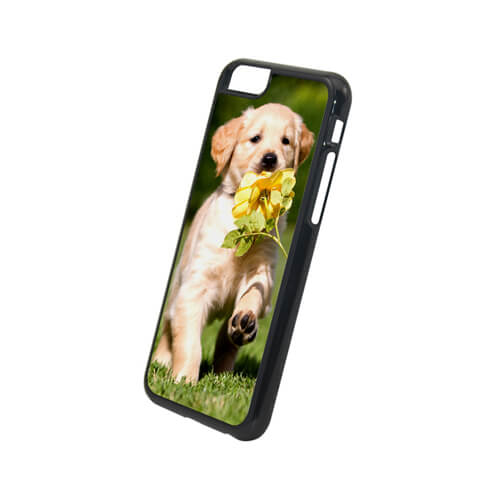 iPhone 6/6S fekete műanyag tok szublimáláshoz, préseléshez