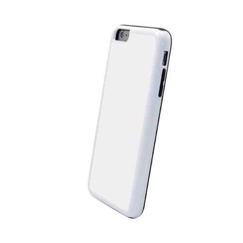 iPhone 6/6S Plus fehér műanyag-gumi tok szublimáláshoz, préseléshez