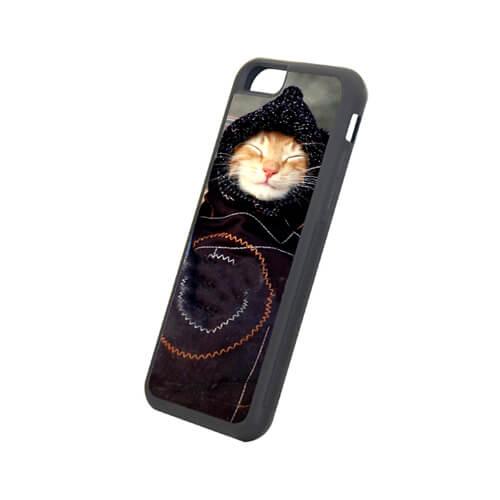 iPhone 6/6S fekete gumi tok szublimáláshoz, préseléshez