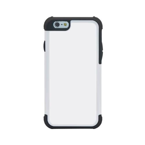 iPhone 6/6S fehér műanyag-gumi tok szublimáláshoz, préseléshez