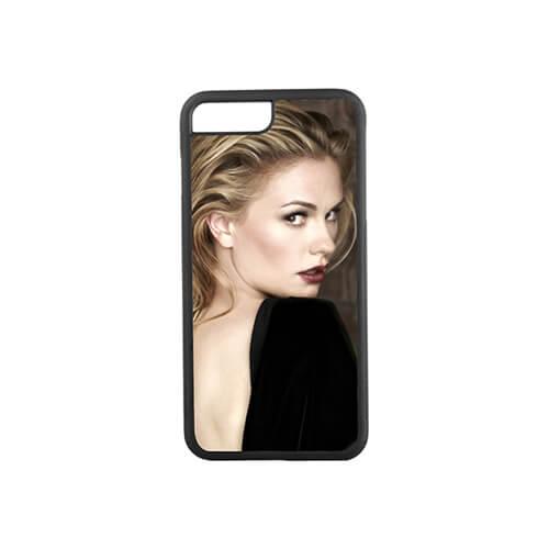 iPhone 7 / 8 Plus fekete gumi tok szublimáláshoz, préseléshez