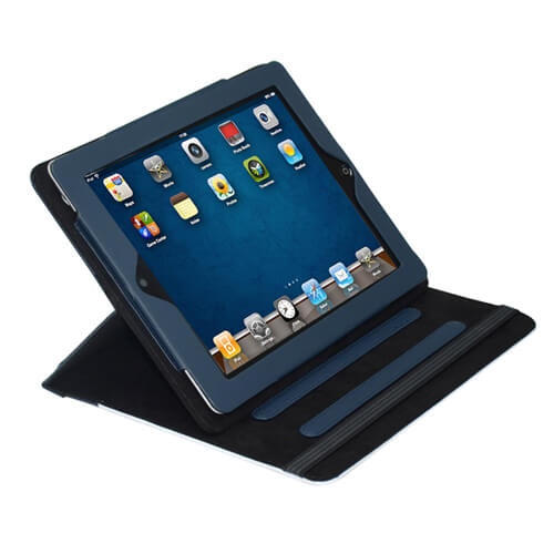 iPad tengerészkék bőrtok szublimáláshoz, préseléshez