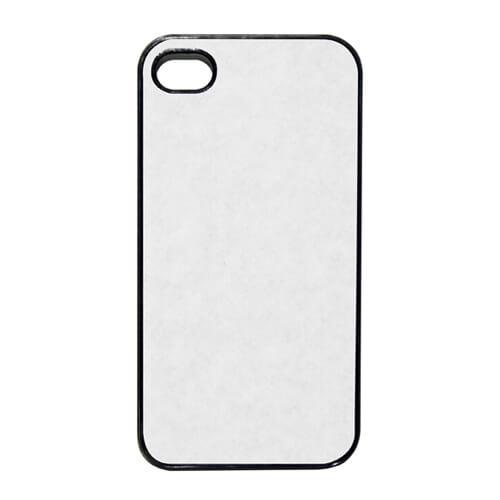 iPhone 4/4S fekete műanyag tok szublimáláshoz, préseléshez