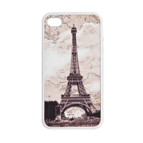 iPhone 4/4S fehér gumi tok szublimáláshoz, préseléshez