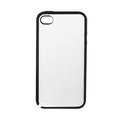 iPhone 4/4S fekete gumi tok szublimáláshoz, préseléshez