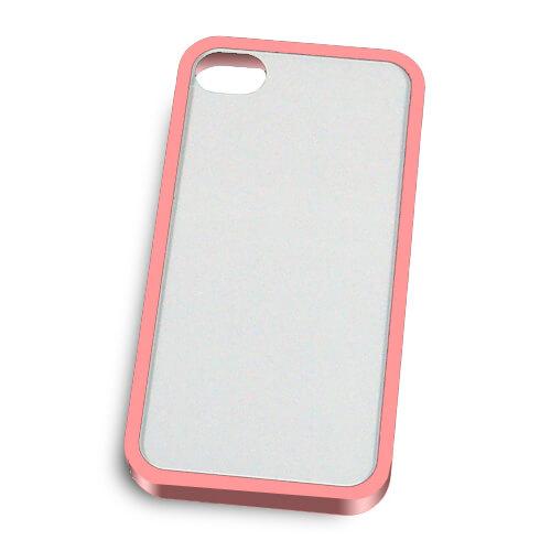 iPhone 4/4S rózsaszín műanyag keret szublimáláshoz, préseléshez