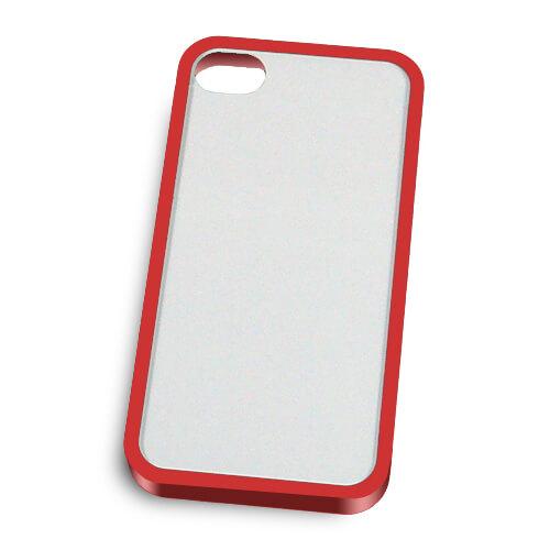 iPhone 4/4S piros műanyag keret szublimáláshoz, préseléshez