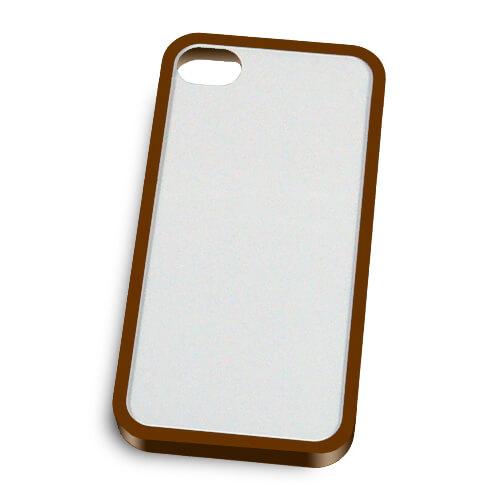 iPhone 4/4S barna műanyag keret szublimáláshoz, préseléshez