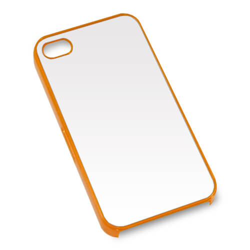 iPhone 4/4S narancssárga műanyag tok szublimáláshoz, préseléshez