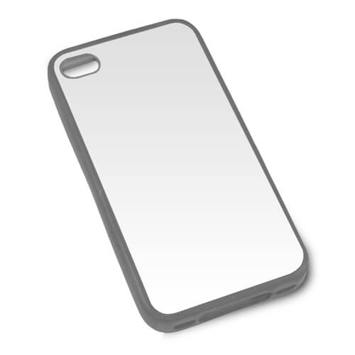 iPhone 4/4S szürke gumi tok szublimáláshoz, préseléshez