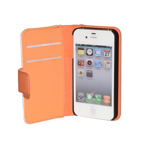 iPhone 4/4S narancssárga eco bőr tok szublimáláshoz, préseléshez