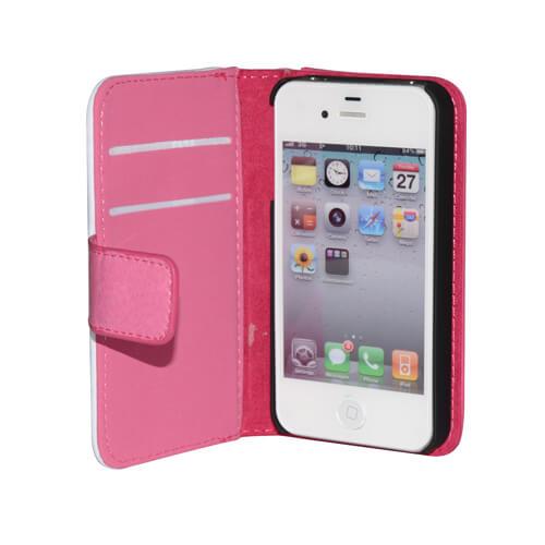 iPhone 4/4S rózsaszín eco bőr tok szublimáláshoz, préseléshez