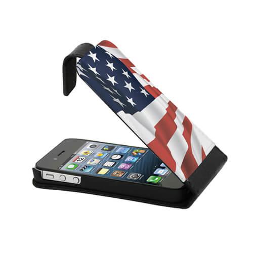 iPhone 4/4S fekete eco bőr tok szublimáláshoz, préseléshez