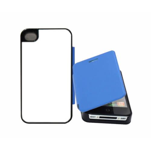 iPhone 4/4S világos kék felnyitható tok szublimáláshoz, préseléshez