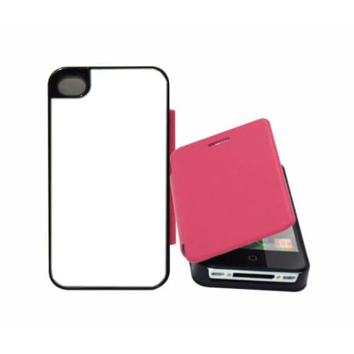 iPhone 4/4S rózsaszín felnyitható tok szublimáláshoz, préseléshez