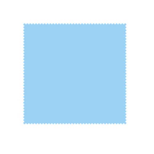 14 x 14 cm-es világoskék zergebőr kendő szublimáláshoz, préseléshez