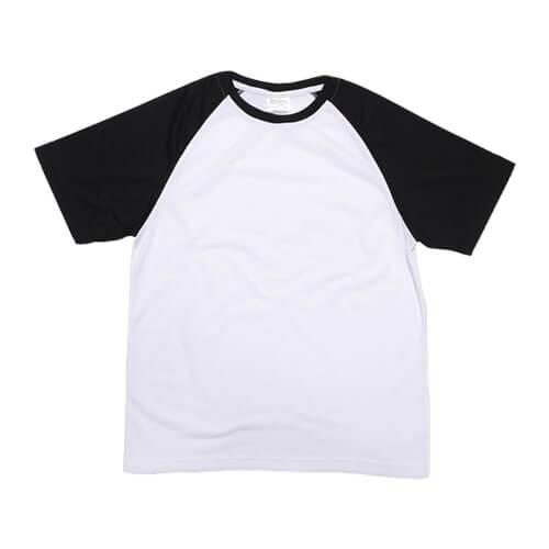 Fehér póló fekete ujjal, JSubli, L /EU/, szublimáláshoz, préseléshez