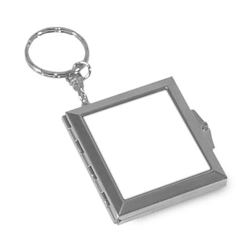 Szögletes tükrös kulcstartó szublimáláshoz, préseléshez
