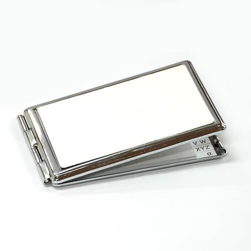 Szögletes tükör jegyzettömbbel, szublimáláshoz, préseléshez