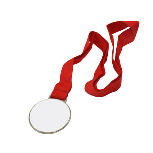 6 cm-es átmérőjű ezüstérem 5 cm-es nyomtatási felülettel, szublimáláshoz, préseléshez