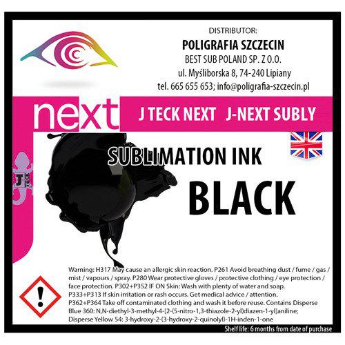 J-Teck J-Eco szublimációs tinta, FEKETE 1000 ml