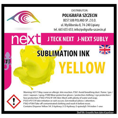 J-Teck J-Eco szublimációs tinta, CITROMSÁRGA 1000 ml